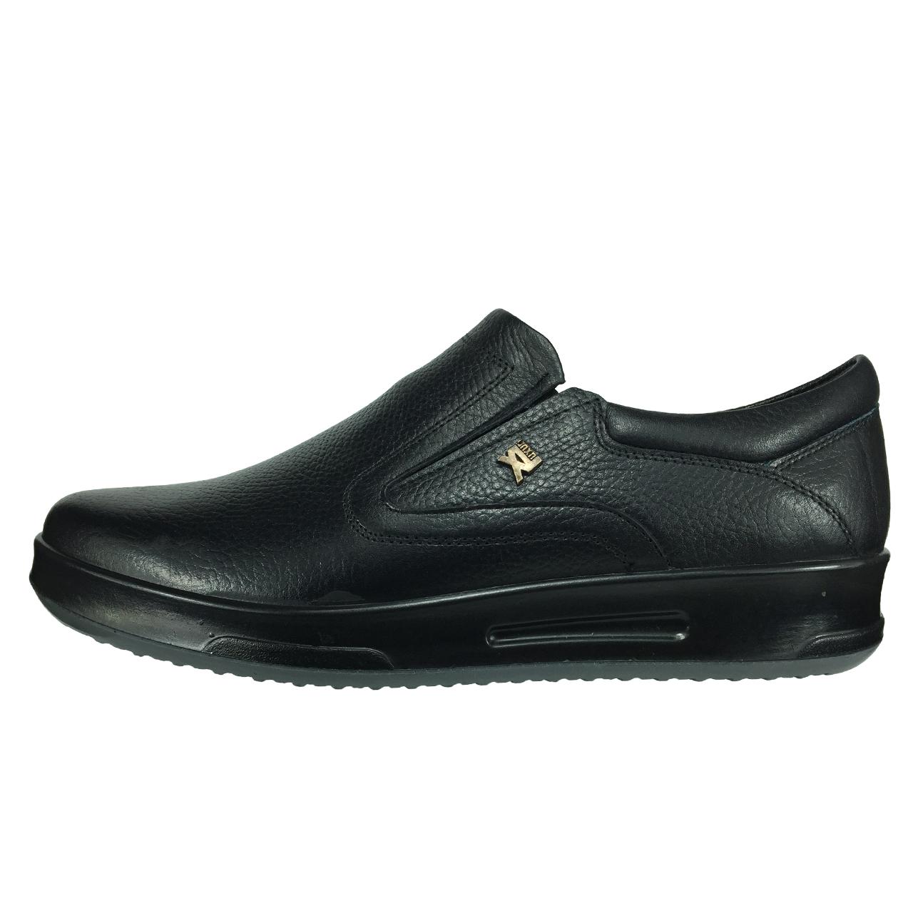 کفش طبی چرم مدل B435 رنگ مشکی