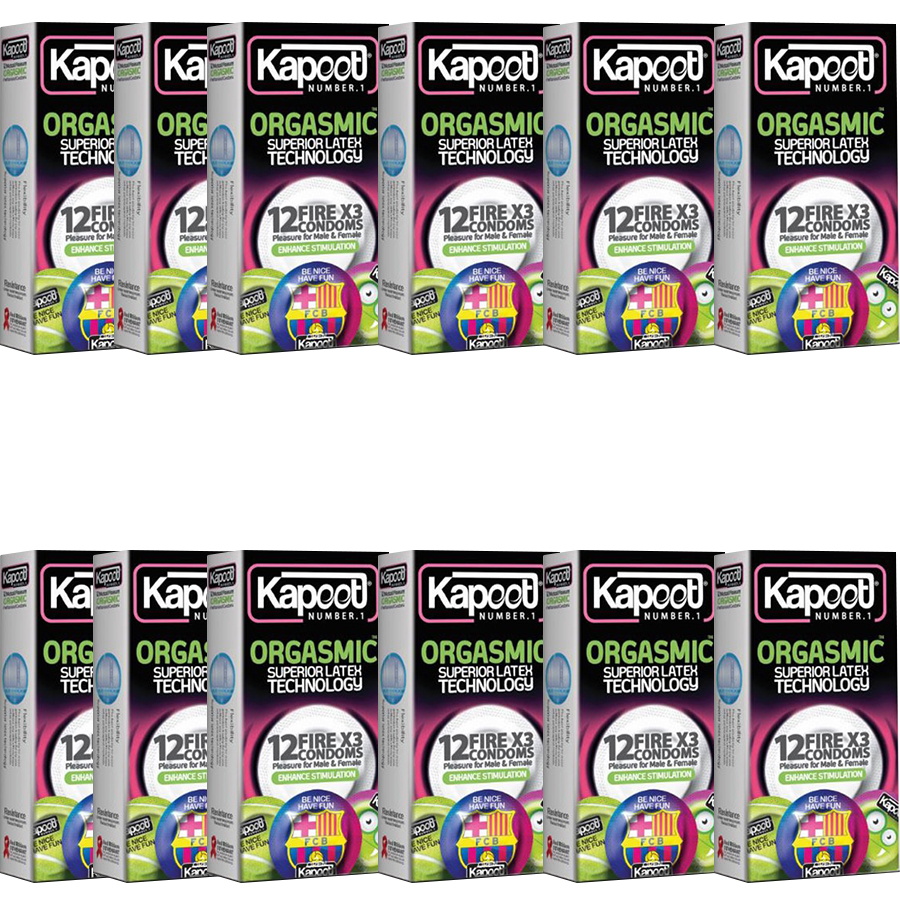 کاندوم کاپوت مدل ORGASMIC بسته 12 عددی