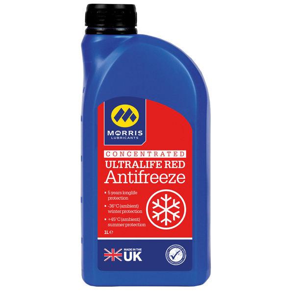 ضدیخ خودرو موریس مدل ultra life red antifreeze حجم ۱ لیتر