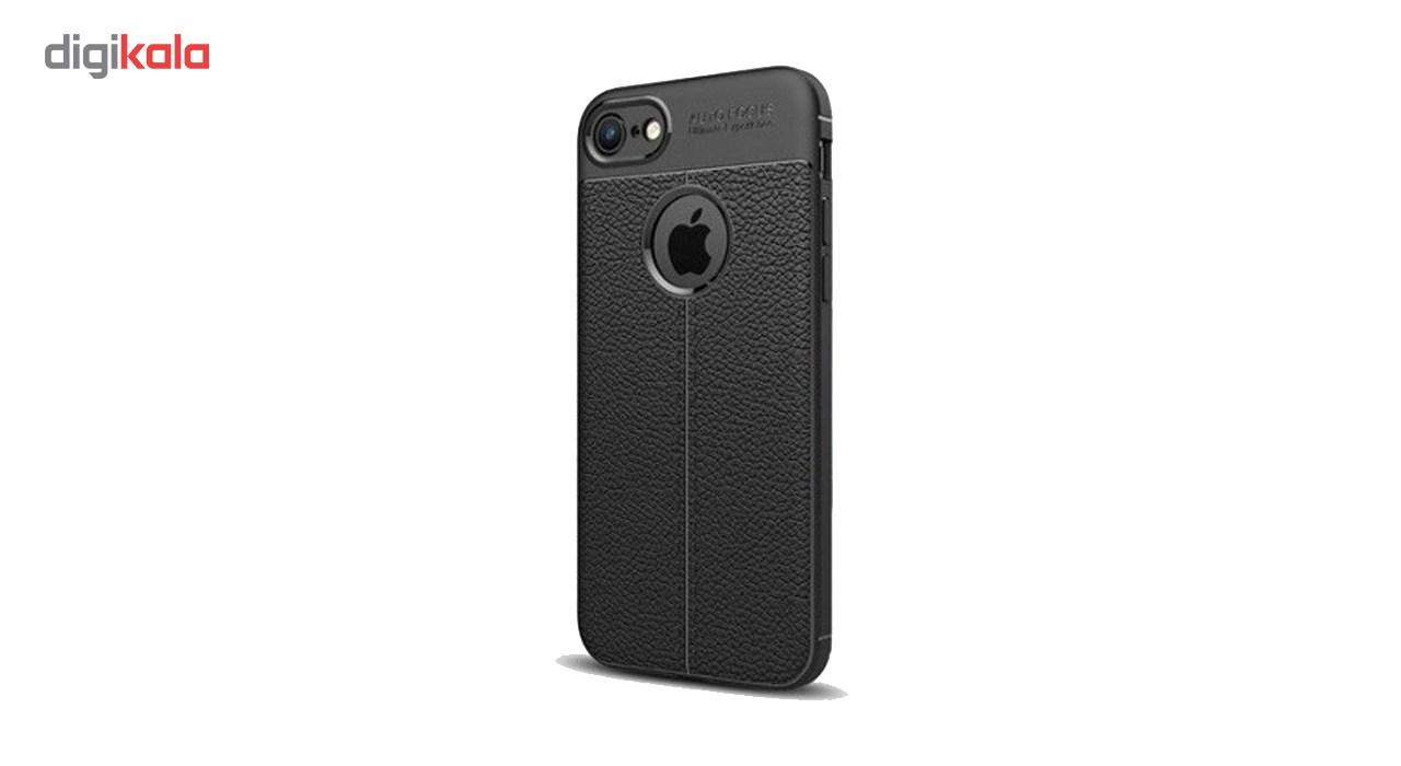 کاور ژله ای طرح چرم مناسب برای گوشی موبایل اپل آیفون 5/5s/SE
