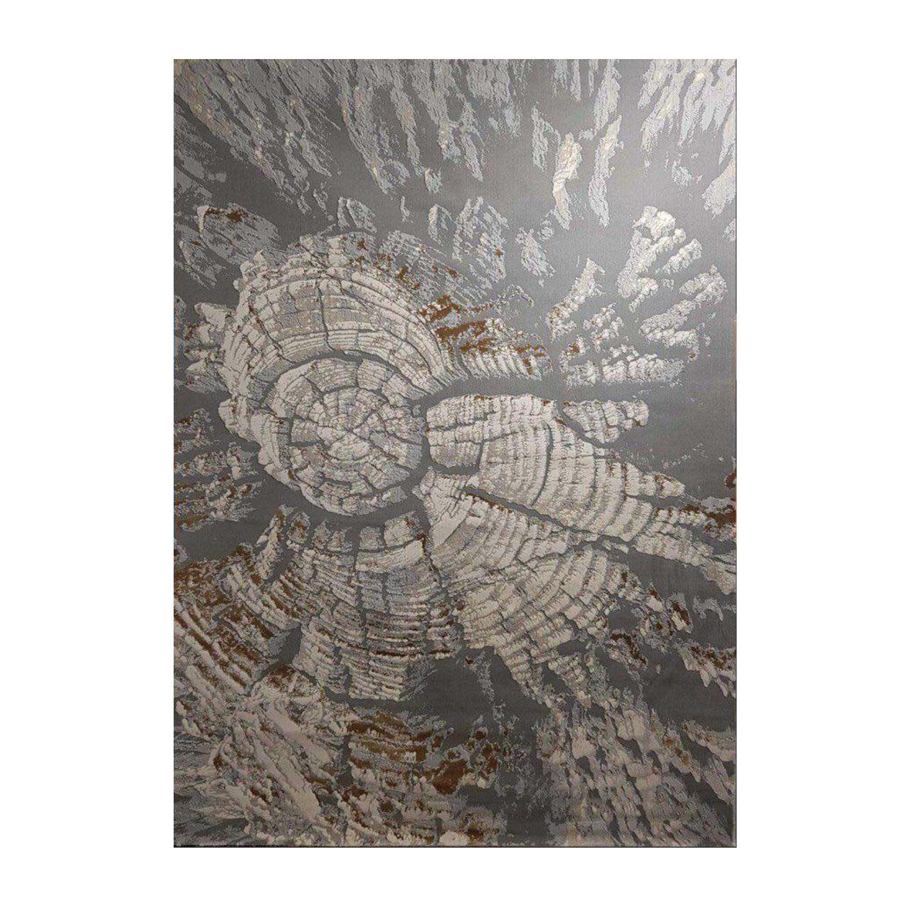فرش ماشینی طرح پلاتینیوم کد 6022 زمینه طوسی