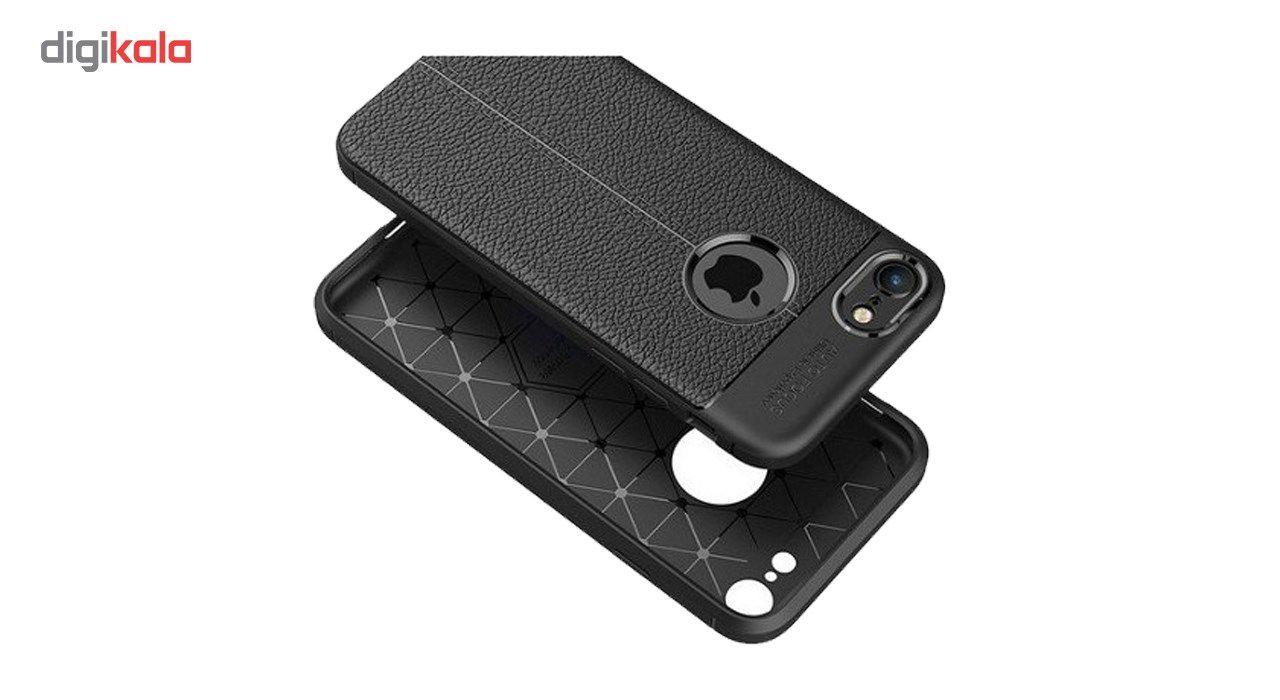 کاور ژله ای طرح چرم مناسب برای گوشی موبایل اپل آیفون 5/5s/SE main 1 4