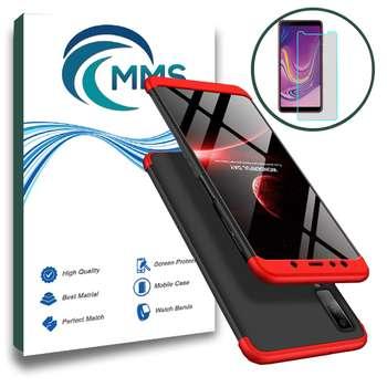 کاور 360 درجه MMS مدل Full Protection مناسب برای گوشی موبایل سامسونگ Galaxy A7 2018 به همراه محافظ صفحه نمایش شیشه ای |