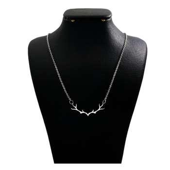 گردنبند نقره زنانه دلی جم طرح شاخ گوزن کد D 182
