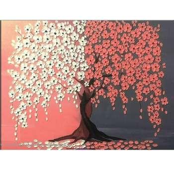 تابلو نقاشی گالری هنرسراي سرمد طرح شکوفه برجسته کد S014