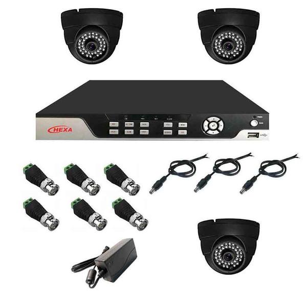 سیستم امنیتی نظارتی دوربین مداربسته هگزا مدل 4001A