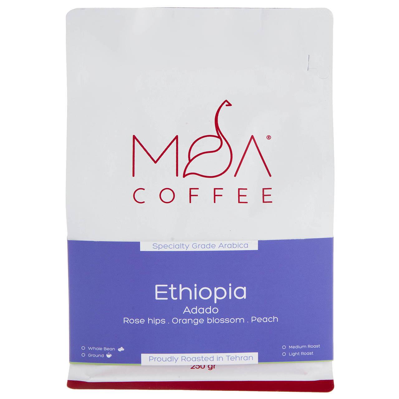 دانه قهوه Ethiopia Adado موآ مقدار 250 گرم