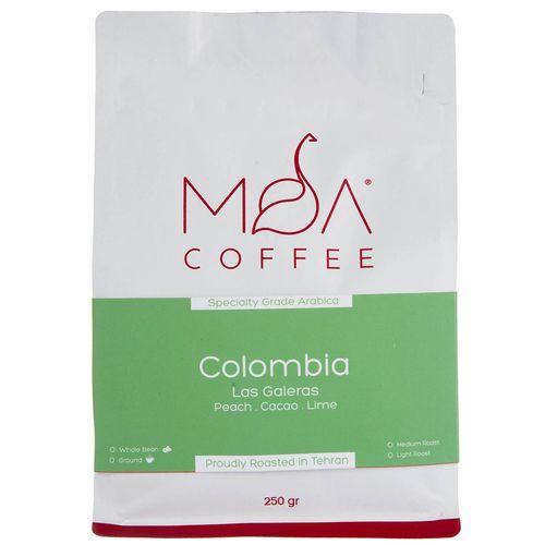 دانه قهوه Colombia Las Galeras موآ مقدار 250 گرم