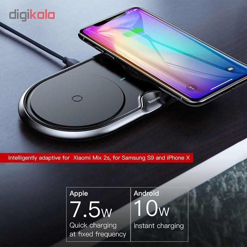 شارژر بی سیم باسئوس مدل dual wireless main 1 1