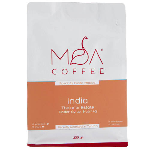 دانه قهوه India Thalanar Estate موآ مقدار 250 گرم