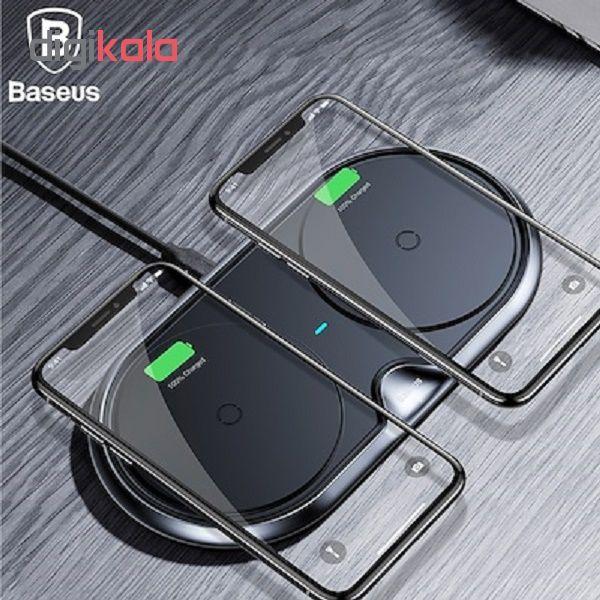 شارژر بی سیم باسئوس مدل dual wireless main 1 2