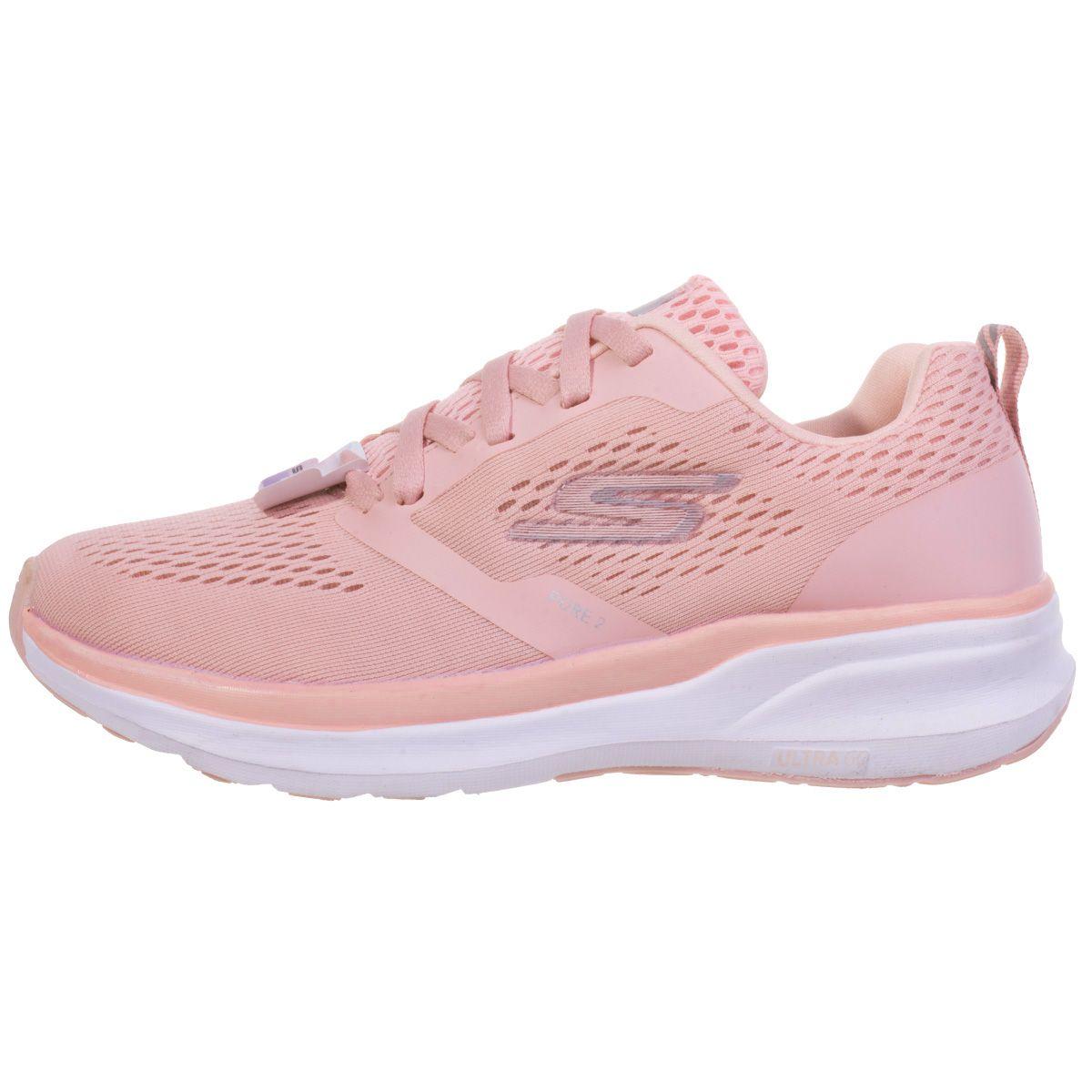 کفش مخصوص دویدن زنانه اسکچرز مدل GORUN PURE2 STRIKE PIN-1050160