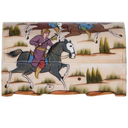 جعبه استخوانی اثر سبحانی طرح اسب سایز 9 سانتی متری