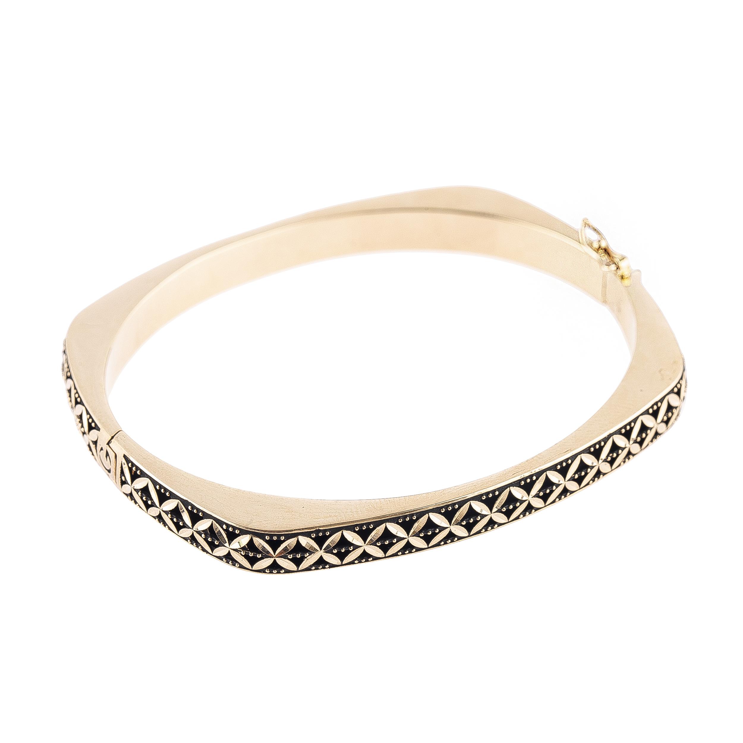 قیمت دستبند طلا 18 عیار کد B114