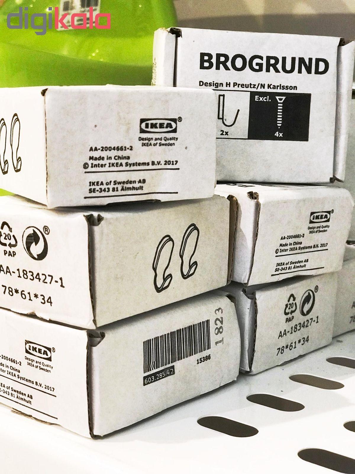 قلاب آویز حوله ایکیا مدل BROGRUND بسته دو عددی main 1 3