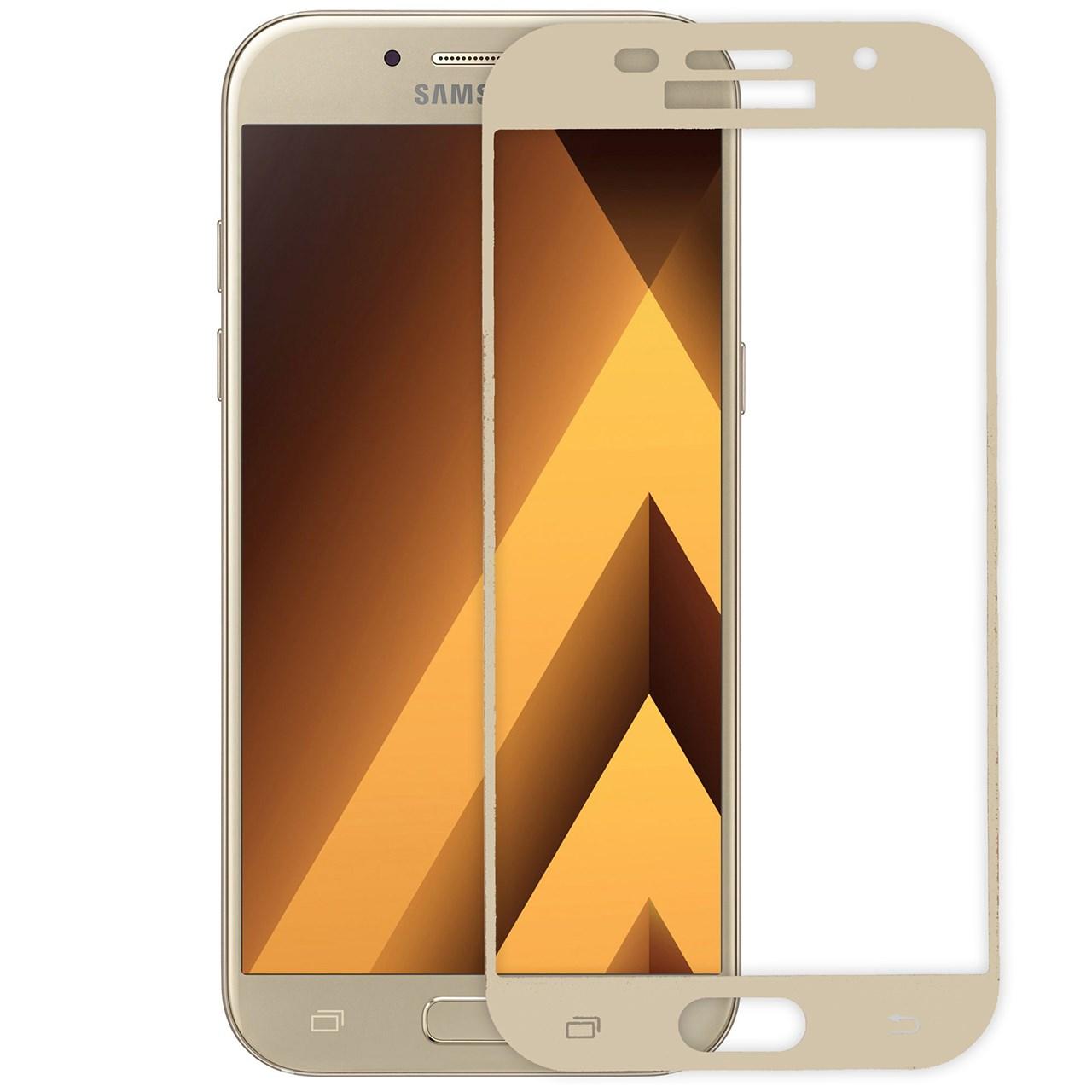 محافظ صفحه نمایش شیشه ای ریمکس مدلFull Cover مناسب برای گوشی موبایل  سامسونگ Galaxy A5 2017              ( قیمت و خرید)
