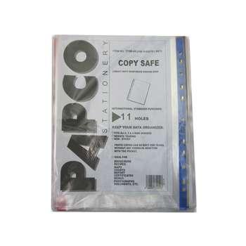 کاور A4 پاپکو مدل اندیکس رنگی بسته 100 عددی