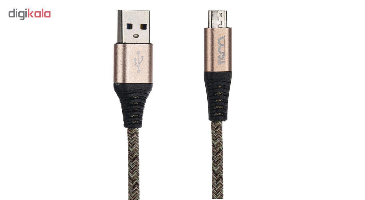 کابل تبدیل USB به microUSB تسکو مدل TC-A19 طول 2 متر main 1 2