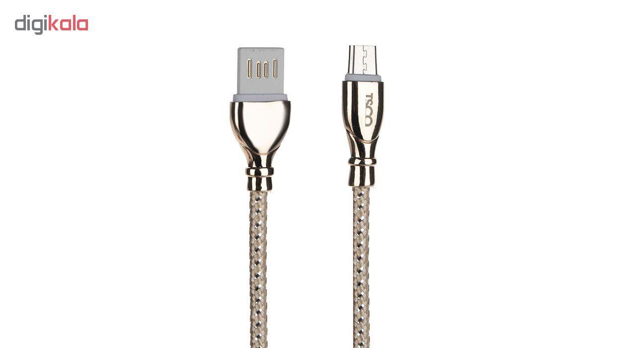 کابل تبدیل USB به microUSB تسکو مدل TC-A25 طول 1 متر main 1 2
