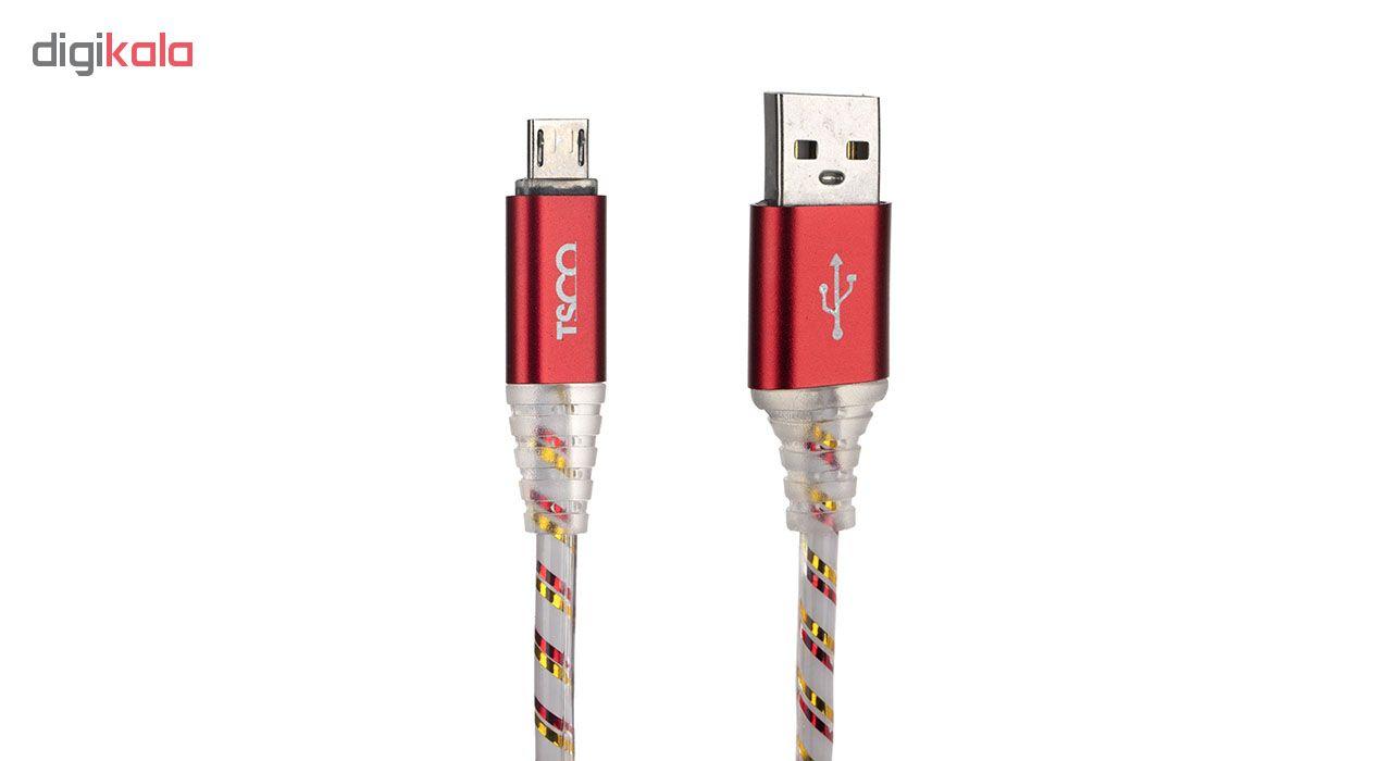 کابل تبدیل USB به microUSB تسکو مدل TC 58 طول 1 متر main 1 2