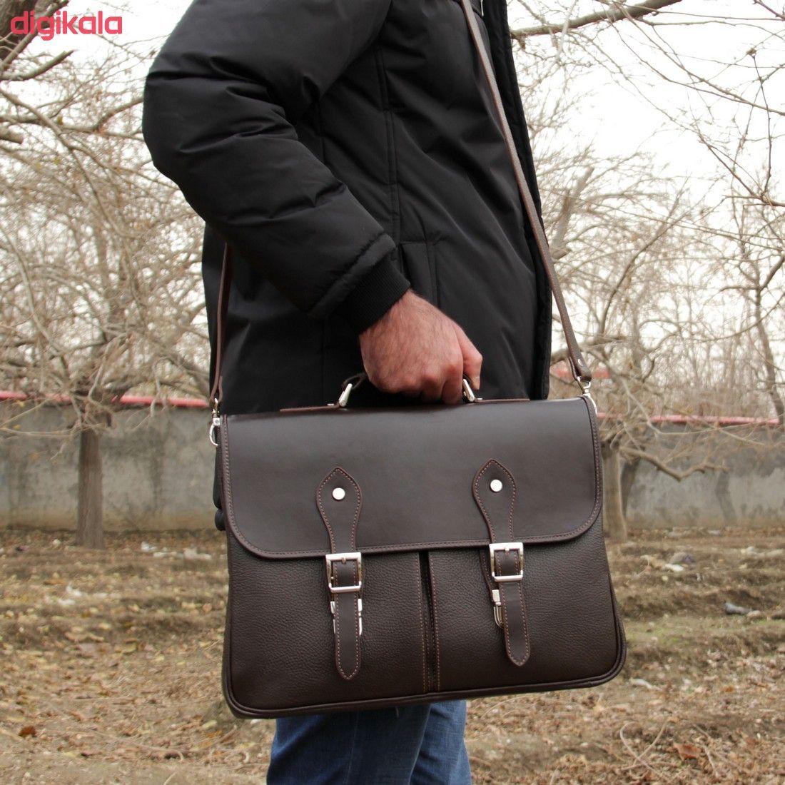 کیف اداری مردانه چرم بیسراک مدل مارال کد Ed-502 main 1 23