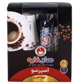 قهوه فوری اسپرسو های فایو بسته ۲۰ عددی