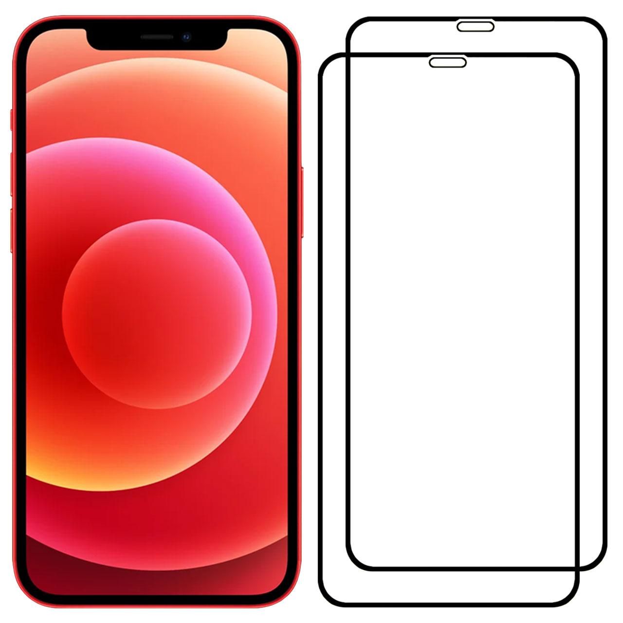 محافظ صفحه نمایش مدل FCG مناسب برای گوشی موبایل اپل iPhone 12 Pro بسته دو عددی