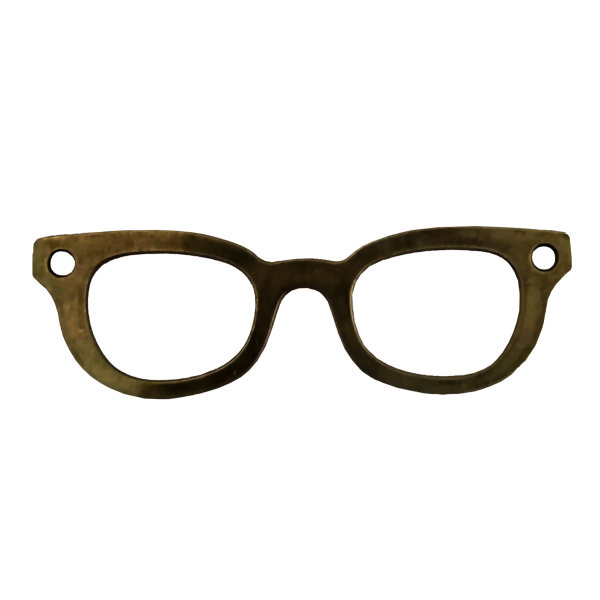 آویز گردنبند بچگانه مدل عینک