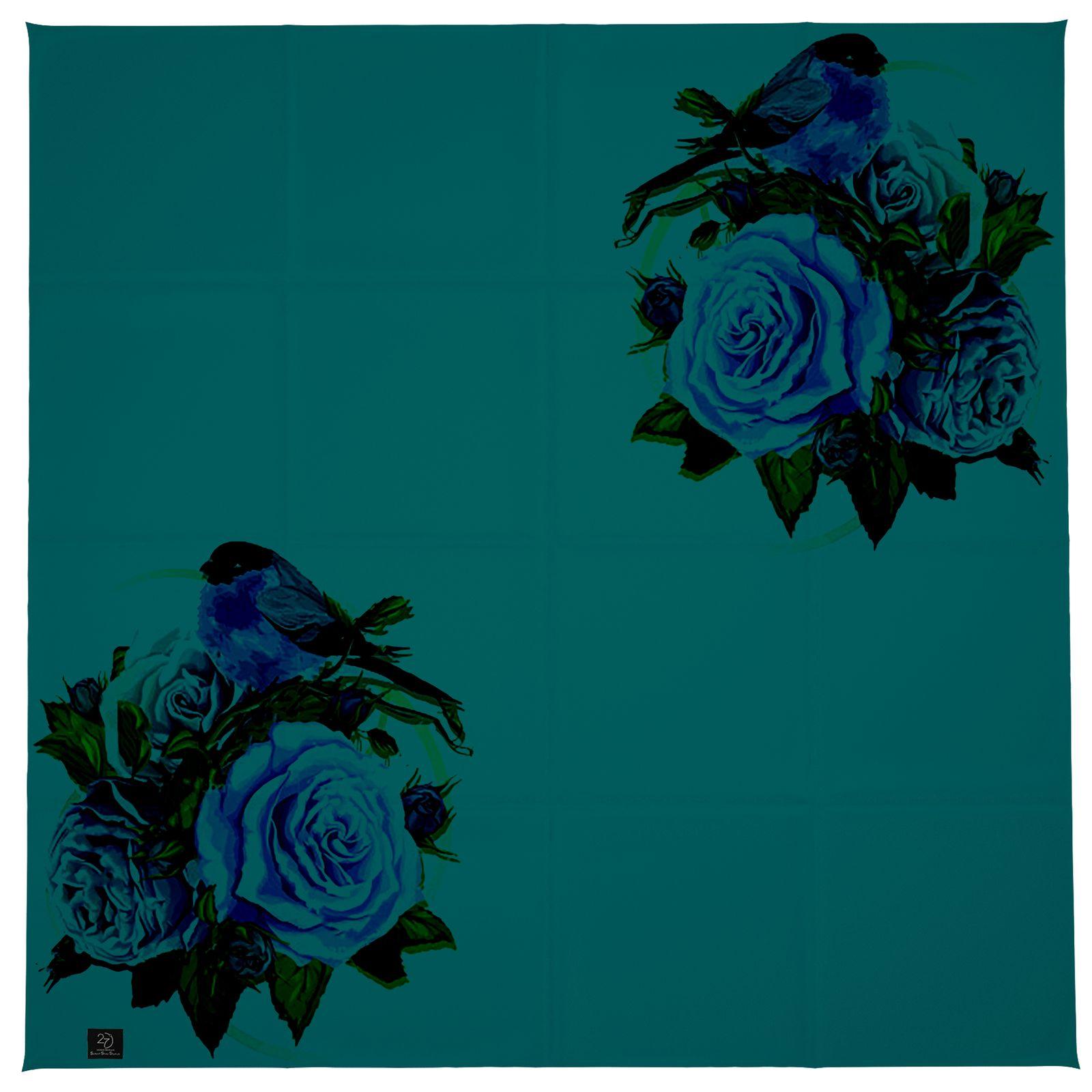 روسری زنانه 27 طرح پرنده و گل کد H06 -  - 8
