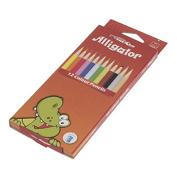 مداد رنگی 12 رنگ الیگیتور