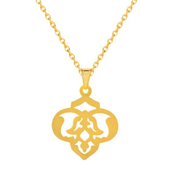 گردنبند طلا 18 عیار زنانه آمانژکد D9258