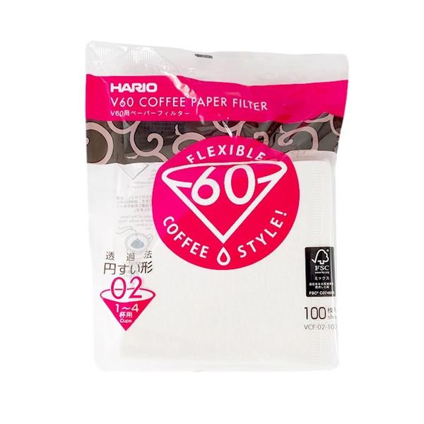 فیلتر قهوه هاریو مدل v60 بسته100عددی