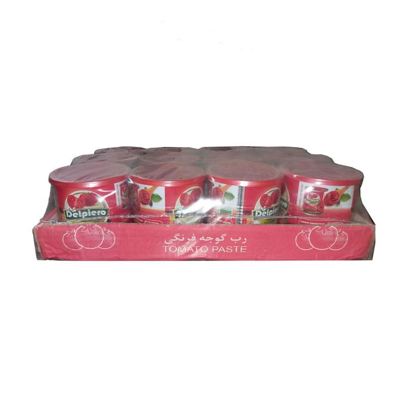 رب گوجه فرنگی دلپیرو - 800 گرمی بسته 12 عددی