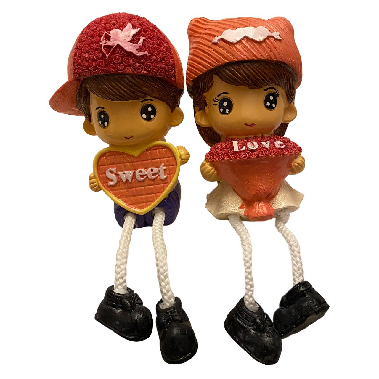 خرید                      مجسمه طرح دختر و پسر عاشق مدل RM-6979 مجموعه 2 عددی