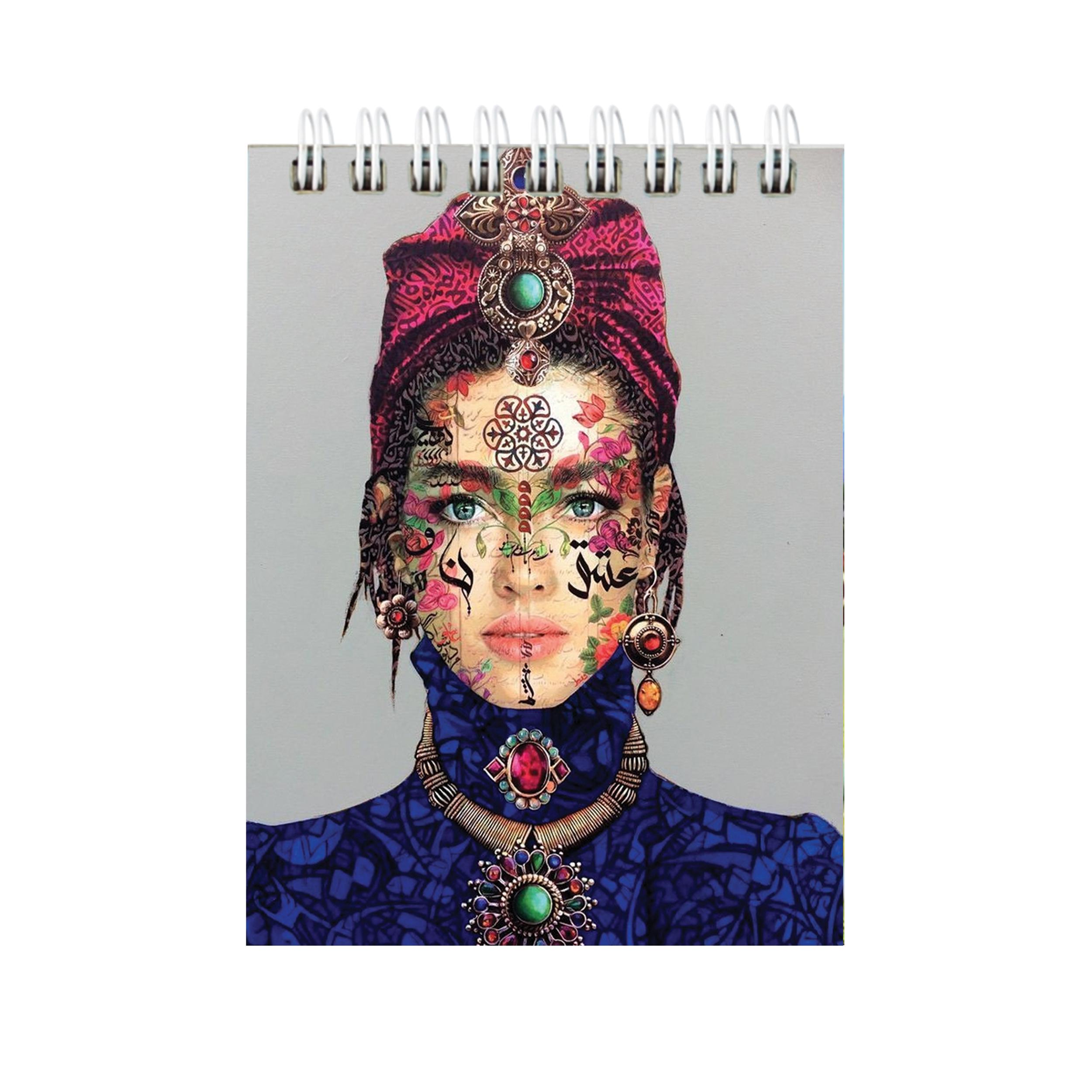 دفترچه یادداشت طرح دختر کد 02