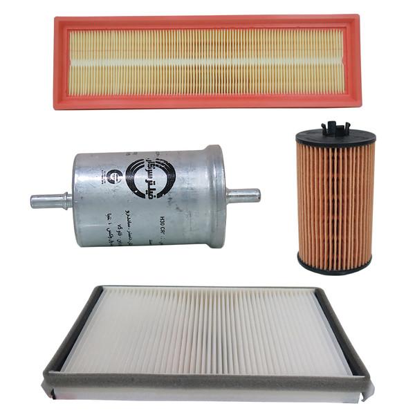 فیلتر هوا خودرو سرکان مدل SF1296 به همراه فیلتر روغن و فیلتر کابین و فیلتر بنزین