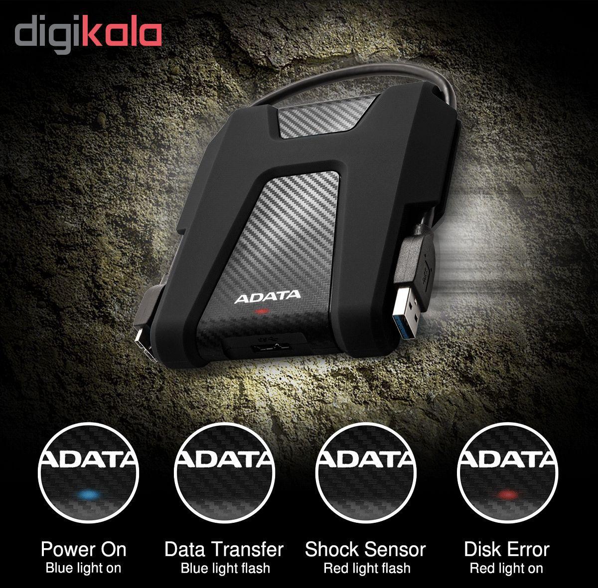 هارددیسک اکسترنال ای دیتا مدل DashDrive Durable HD680 ظرفیت 1 ترابایت main 1 1