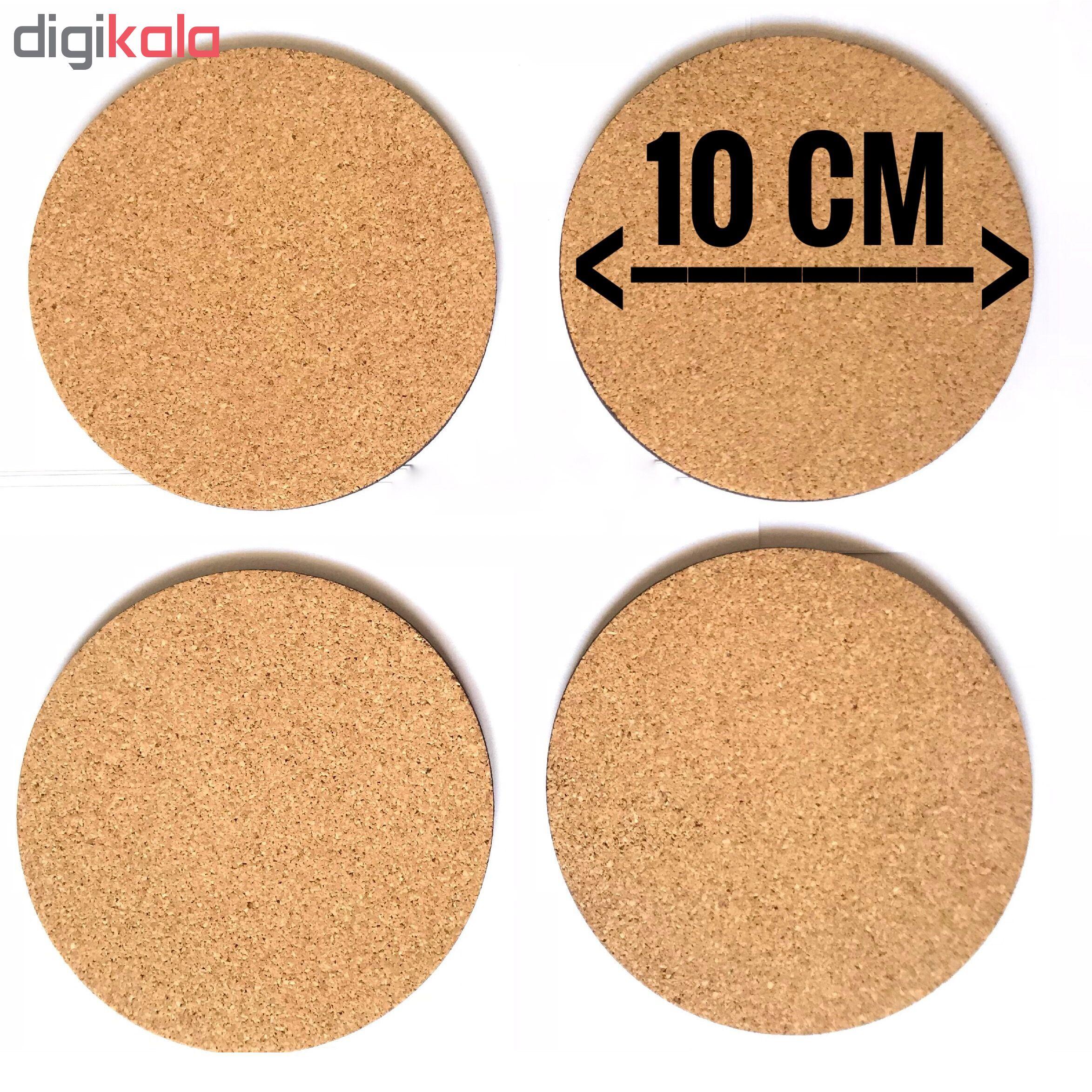 زیرلیوانی ایران کرک مدل The circle بسته ۴ عددی