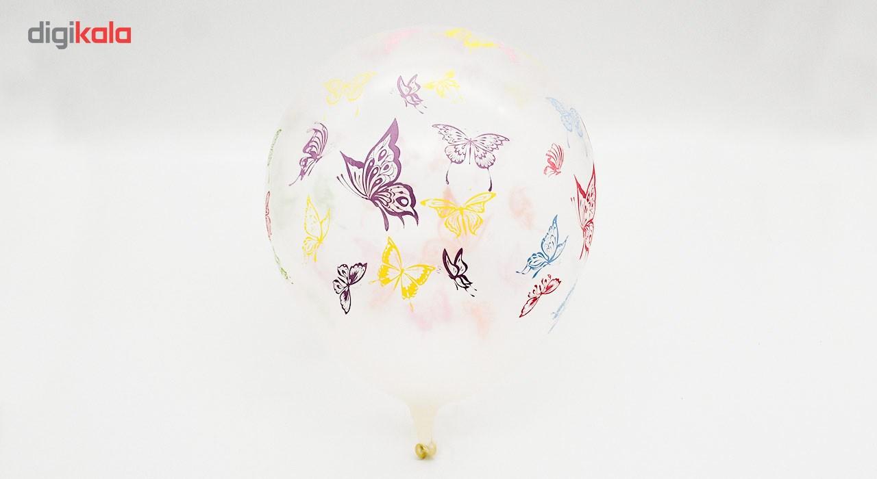 بادکنک شیشه ای مدل پروانه بسته 40 تایی