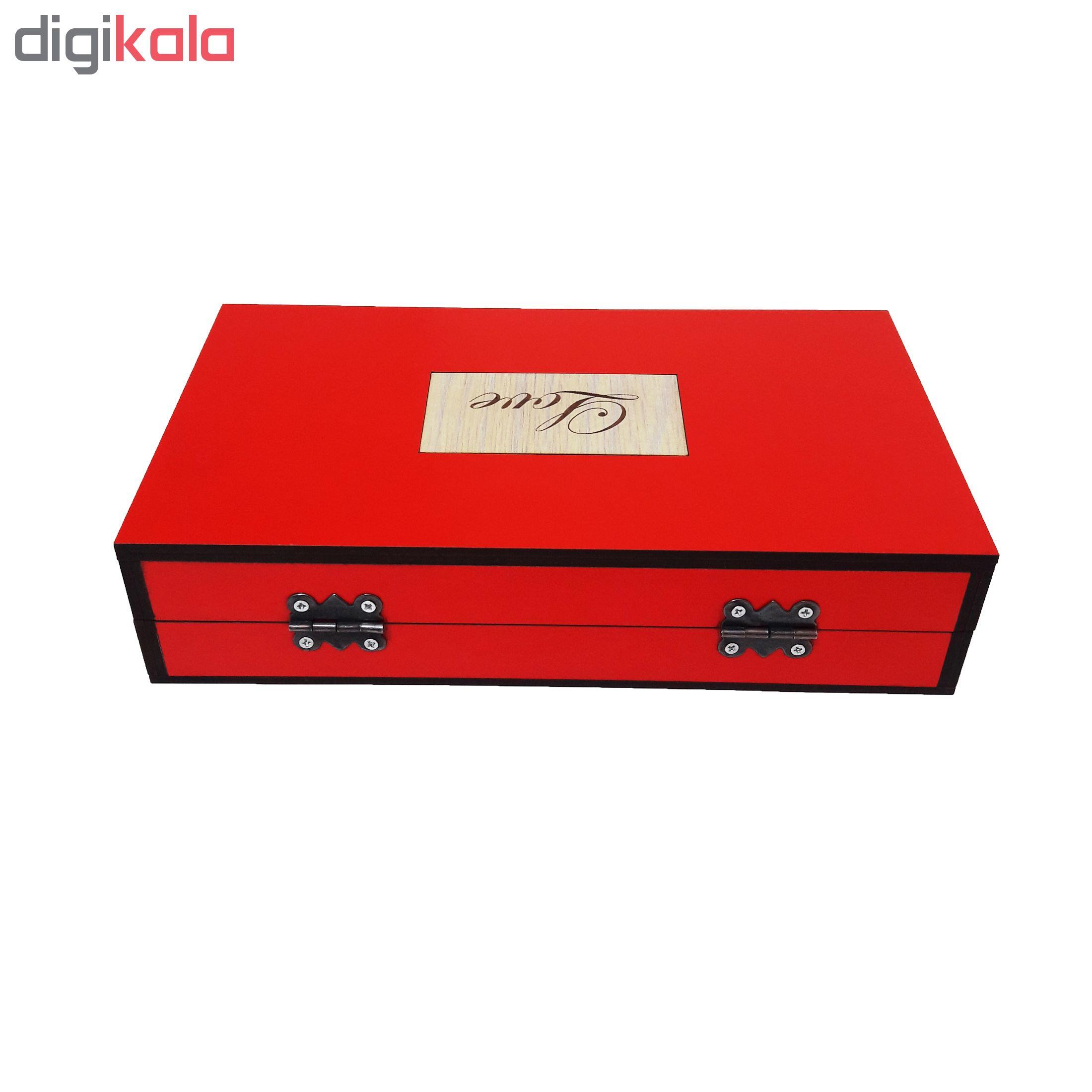 خرید                      جعبه هدیه چوبی آیهان باکس مدل 07