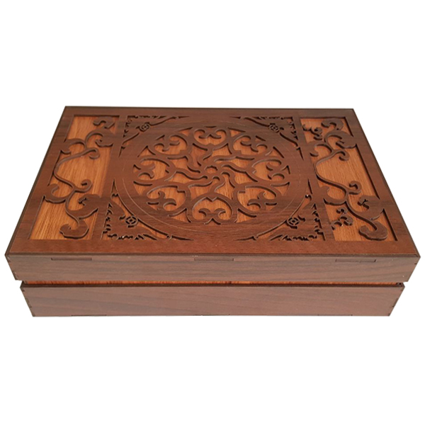 جعبه رومیزی تی بگ و تنقلات و زیر لیوانی مدل Mate Gol کد KL07