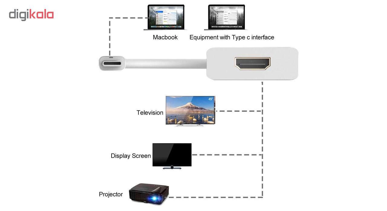 مبدل USB-C به HDMI مدل 4K