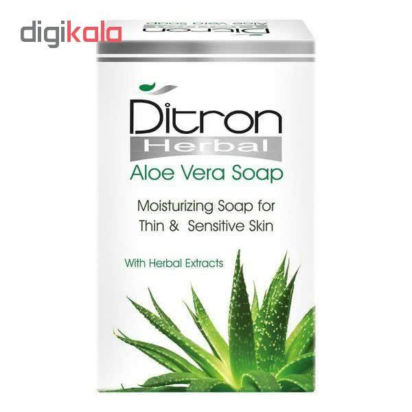 صابون دیترون سری Herbal مدل Aloe Vera وزن ۱۱۰ گرم