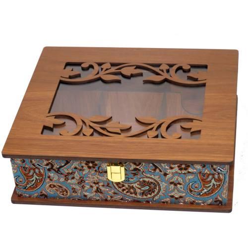 جعبه پذیرایی دمنوش چایی کیسه ای  لوکس باکس  کد LB54