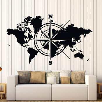 استیکر وی وین آرت طرح نقشه جهان کد S43