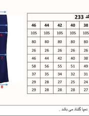 شلوار دمپا گشاد کمرکش زنانه آبی کاربنی مدل 233 -  - 4