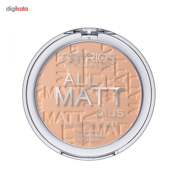 پنکیک بژ متوسط کاتریس مدل All Matt Plus Shine Control Powder 025