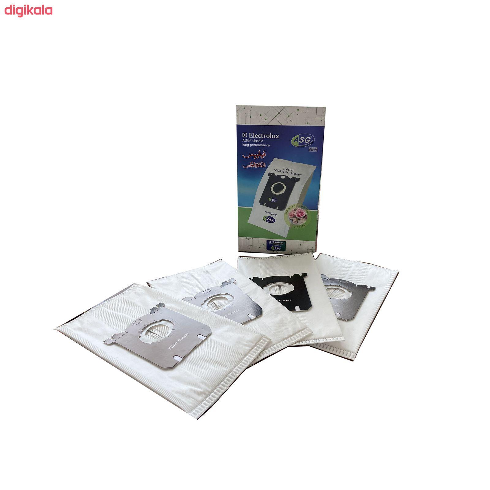 کیسه جاروبرقی اس-بگ مدل ASG کد G2 مناسب انواع جاروبرقی های فیلیپس بسته ۴ عددی main 1 2