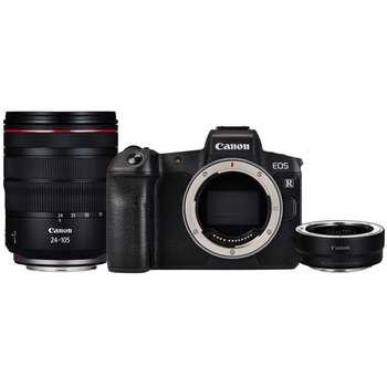 دوربین دیجیتال بدون آینه کانن مدل EOS R به همراه لنز RF 24-105mm و Mount Adapter EF-EOS R