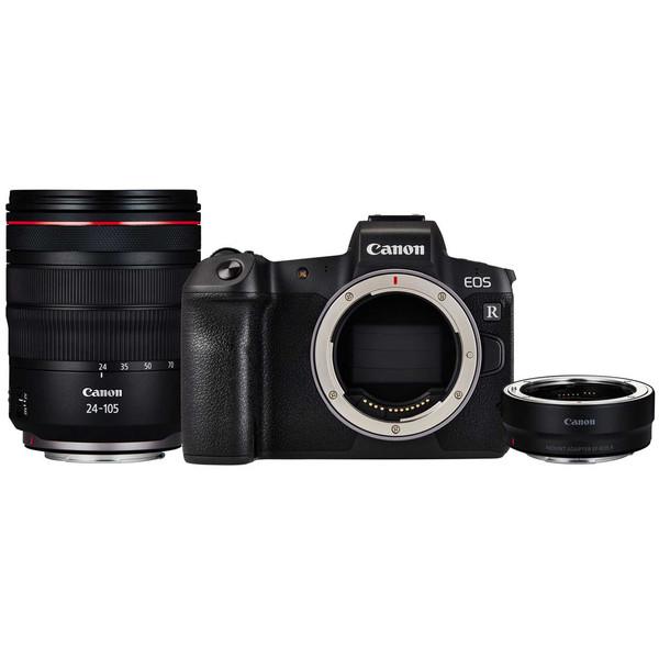 دوربین دیجیتال بدون آینه کانن مدل EOS R به همراه لنز EF 24-105mm و Mount Adapter EF-EOS R